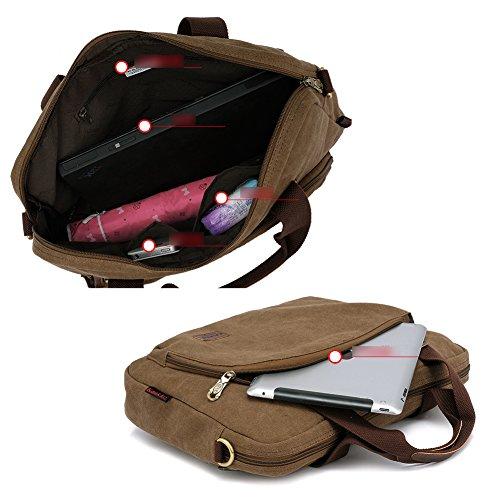 YAAGLE Qualitätsartikel Herren schick Business Taschen Freizeit Kuriertasche Umhängetasche Schultertasche Handtasche Aktentasche Reisetasche-khaki khaki