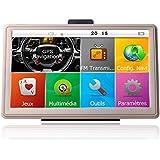 xinmy coche camión Navegación GPS HD 7inch TFT LCD pantalla táctil preinstalado 8GB UE y Reino Unido Mapas música/reproductor de vídeo compatible con varios idiomas con ventana XP (oro)