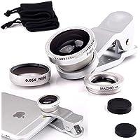 Rivero della clip universale 3in 1obiettivo fisheye fotocamera del kit include 180gradi obiettivo macro e grandangolo per i dispositivi Android e iOS per vivo x9Plus