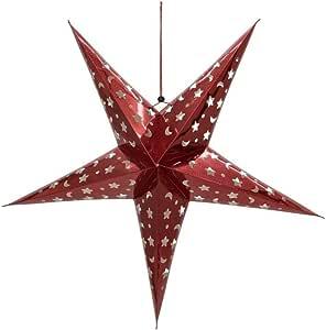 Rot Star 236-82 Papier 14.0 x 48.0 x 48.0 cm Ersatz PapiersternAntique