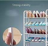 zdfx Estante/Muebles Estante para zapatos de 4 capas blanco Pasillo de puerta Carretera Soporte de...