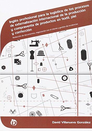 Inglés profesional para la logística de productos en textil, piel y