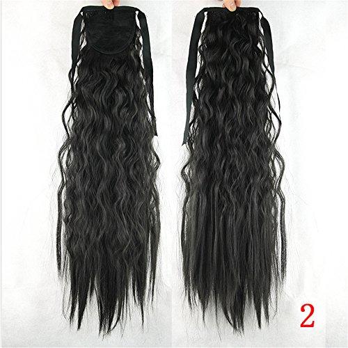 Quibine 55cm Longue Bouclés Frisées Postiche Queue de Cheval Extension de Cheveux, 2#