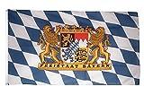 Fahne / Flagge Deutschland Bayern Freistaat + gratis Sticker, Flaggenfritze®