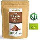 Roh Kakao Pulver Bio 1Kg | Organic Raw Cacao Powder | 100% Rohkost, Natürlich, Rein. Produziert in Peru aus der Theobroma Cocoa Pflanze | Superfood reich an Antioxidantien, Mineralien und Vitaminen.
