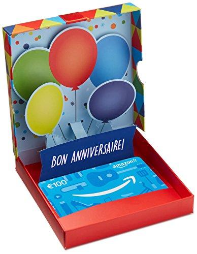 Carte cadeau Amazon.fr  -  €100 -  Dans un coffret Ballons d'anniversaire
