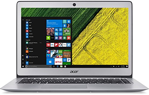 Acer Swift 3 SF314 51 36R6 356 cm 14 Zoll 100 % HD IPS Notebook Intel key i3 6100U 4GB RAM 128GB SSD Intel HD Graphics 520 Win 10 household silber Notebooks
