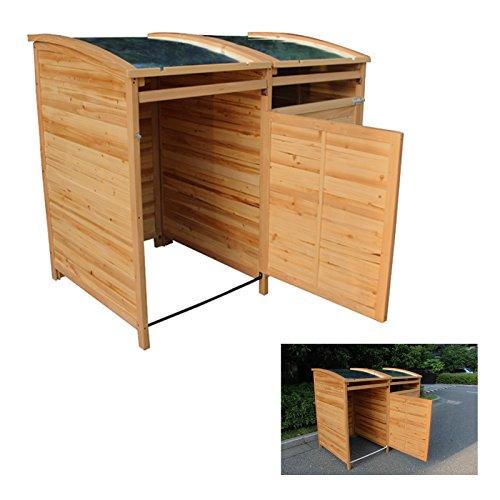 MTB Mülltonnenbox Holzverkleidung mit Deckel Türe 240 L. Gartenbox erweiterbar (Erweiterung) - 6