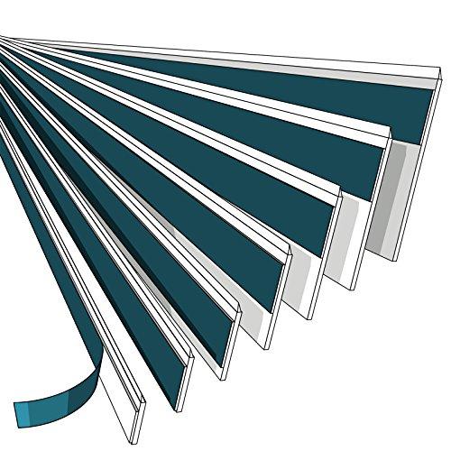 NOBILY *** Fensterleiste 50mm mit Lippe / 1 Meter - 150 Meter / PVC - Fensterleisten Flachleisten Kunststoffleisten Profileleisten Abschlussleisten Zierleisten zur Fenster Montage