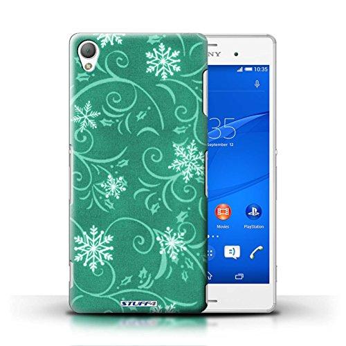 Kobalt® Imprimé Etui / Coque pour Sony Xperia Z3 / Vert conception / Série Motif flocon de neige Turquoise