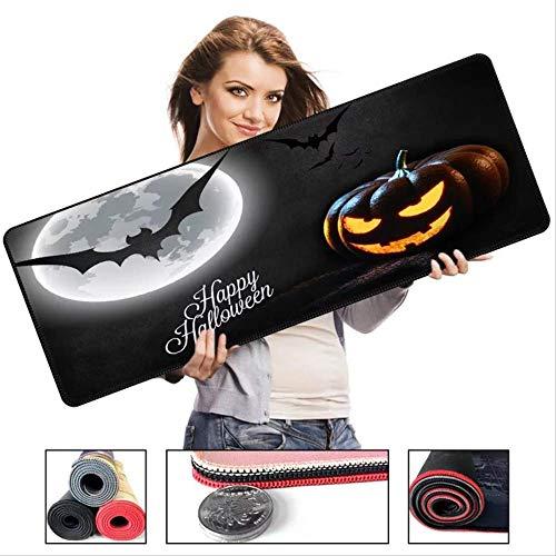 Mauspad 700x300x2mm Halloween-Serie Mousepad Großes Naturkautschukmaterial Rutschfest |Verbesserte Präzision und Geschwindigkeit | Stil 10 (Flächen Für Halloween)