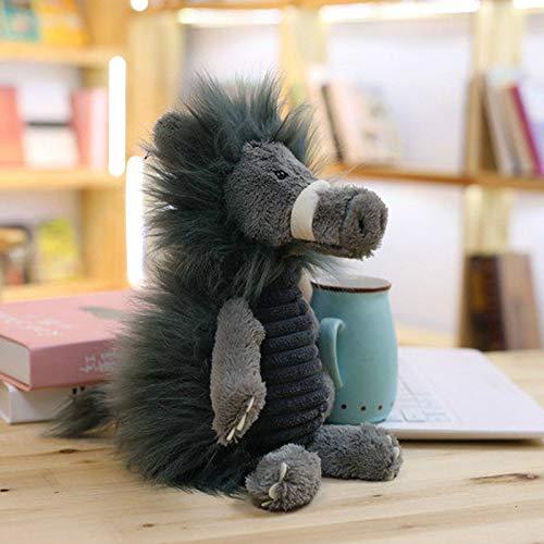 ysldtty Kreative Wald Tier Einhorn Plüschtier Stofftier Umarmt Kissen Kind Begleiter Puppe 25 cm Wildschwein -