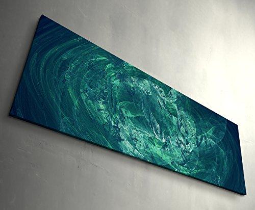 Das Seehaus - Kunstdruck auf Leinwand gerahmt 150x50cm