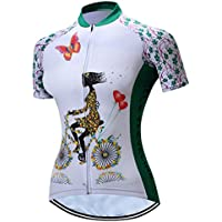 Cycling Jersey Women Mountain Bike Jersey Short Sleeve Road Bicycle Shirts Breathable MTB Tops Summer Clothes Riding Green Quick Dry Size L