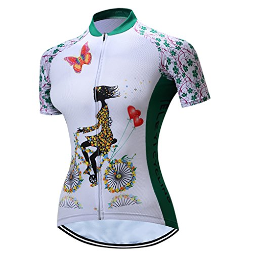 Cycling Jersey Women Mountain Bike Jersey Short Sleeve Road Bicycle Shirts Breathable MTB Tops Summer Clothes Riding Green Quick Dry Size XXXL