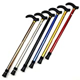 XiAnYeMa Plegable sección Dos de caña Bastón Trekking Polo Muleta Ajustable (Color al Azar) 1 PC