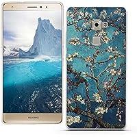 Funda Huawei Mate S - Fubaoda - 3D Realzar, clásico de la flor Patrón, Gel de Silicona TPU, Fina, Flexible, Resistente a los arañazos en su parte trasera, Amortigua los golpes, funda protectora anti-golpes para Huawei Mate S