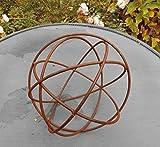 Kugel Dekokugel aus Rundeisen Gitterkugel massiv Rost 20 cm
