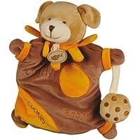 babynat e Doudous–Peluche Charly Adore i biscotti–Doudou Bambino–Marionetta Cane e suo Gateau–Marrone Cioccolato Arancione–Peluche bambino dimensioni: 26cm–genere: ragazza