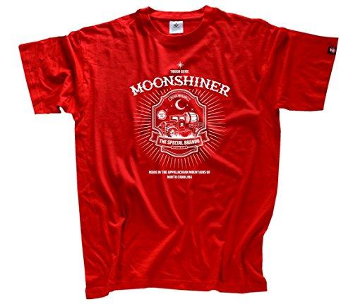 Moonshiner - Rock n Roll und Schnaps T-Shirt Rot XXL - South Carolina Rot Shirts