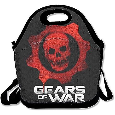 annda Gears Of War Juegos Logo bolsa para el almuerzo de neopreno con correa para el hombro