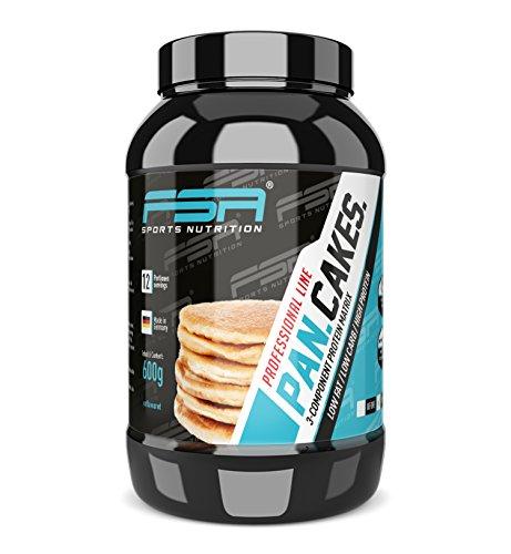 Protein Pancake, Pfannkuchen-Mix schnell und einfach zubereitet, Low Carb Eiweiß-Backmischung - Made in Germany - FSA Nutrition, 600 g - Neutral