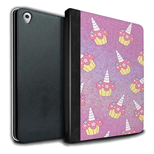 STUFF4 PU-Leder Hülle/Case/Brieftasche für Apple iPad Pro 9.7 tablet / Rosa Cupcake/Kuchen Muster / Einhorn/Unicorn Kollektion