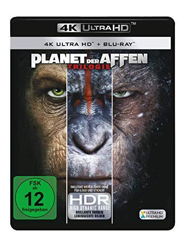 Planet der Affen 1-3  (3 4K Ultra HD) (+ 3 Blu-rays 2D) (Ray-film)