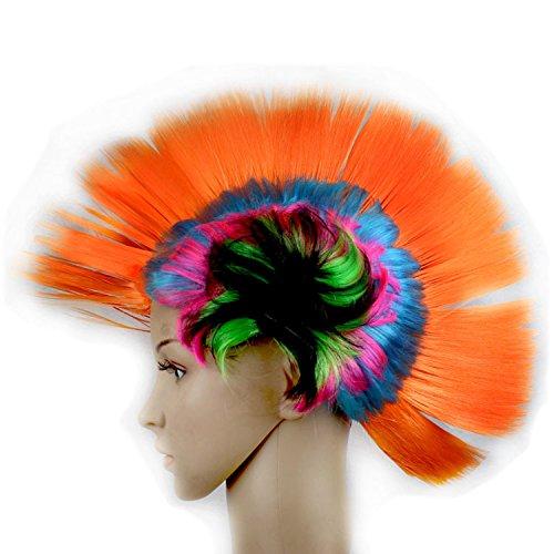 Fashion Style Hallowmas Maskerade Punk Mohawk Mohican Frisur Cockscomb Haar Perücke ( Color : Orange (Kostüme Halloween Mohawk)