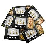 Banithani 6 piezas surtidas diferentes paquetes completos bindi multicolor nueva etiqueta tatuajes tikka