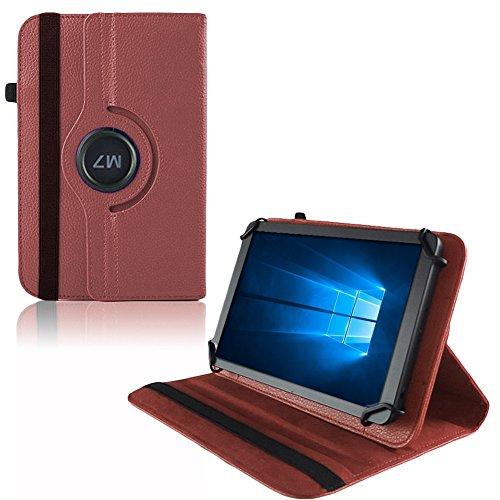 UC-Express Hülle Blaupunkt Enterprise 1020CH Tablet Tasche Schutzhülle Universal Case Cover, Farben:Braun