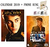 Justin Bieber officiel Calendrier 2019 + Phone Ring Metal Stand Holder for All Mobile Phone