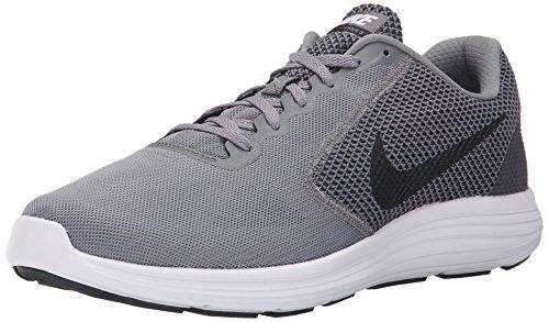 NIKE Revolution 3 Men's Sneaker Gray 819300 002, Grey (Cool Grey/Black-White), 11 UK