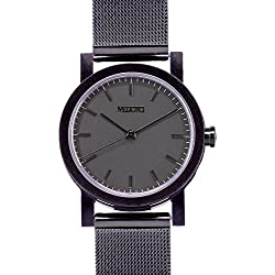 MEDOTA Stainless Steel Waterproof Watch Minimalist Umbra Series Swiss Watch Quartz Womens Watch - No. 21302 (Black)
