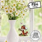 Mini-Fensterbilder Fensterbild Fuchs Hase Otter Pusteblume Angel Buch Ostern wiederverwendbar Fensterdeko bf35mini - ausgewählte Farbe: *bunt* ausgewählte Größe: *12. Fuchs mit Buch*