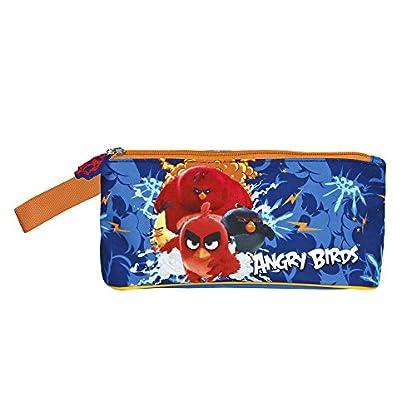 51R5iM5%2B hL. SS416  - Estuche escolar Niño Angry Birds - Bolsa para lapices de los personajes Red Bomb Chuck y Terence - Practico estuche portatodo con cremallera para la escuela y de viaje - Azul - 10x21x8 cm - Perletti