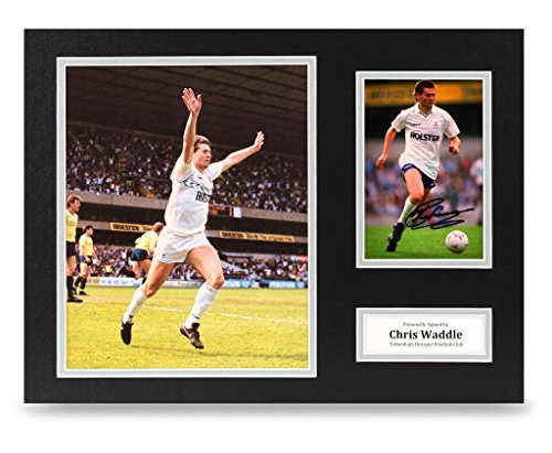 Chris-Waddle-Signed-16×12-Photo-Display-Tottenham-Hotspur-Autograph-Memorabilia