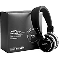 Micro SD TF Card Headset Headphone USB Audio MP3 Music Player FM Radio (Black) can also be use with Aux cable for Apple iPad4 iPhone 5,Ipod All Mp3 Mp4 Players Sony Creative Samsung, All Laptop Pc And All Devices With A Standard 3.5Mm Jack Plug