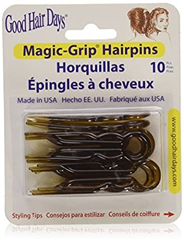 Magic Grip Hair Pins Set of 10 by Good Hair Days Color: Shell by Good Hair Days