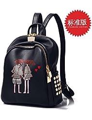 CengBao elegantes bolsas de hombro doble marea hembra silvestre coreano mochila campus estudiantes pu suave cuero mama mochilas escolares paquete nueva caída