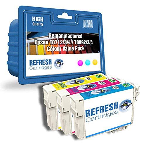 Refresh Cartridges Rigenerate Cartuccia di Inchiostro Ricambio per Epson T1813 (Multi-Colore)