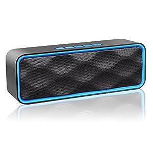 ZoeeTree S2 Enceinte Bluetooth, Stéréo sans Fil Enceinte Portable Bluetooth 4.2 Speaker, Enhanced Bass Haut-Parleur, FM Radio, AUX-in, Built-in Mic, TF Card Slot, pour iPhone/iPad/Samsung/Huawei etc de ZOEE
