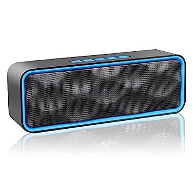ZoeeTree S2 Enceinte Bluetooth, Stéréo sans Fil Enceinte Portable Bluetooth 4.2 Speaker, Enhanced Bass Haut-Parleur, FM Radio, AUX-in, Built-in Mic, TF Card Slot, pour iPhone/iPad/Samsung/Huawei etc par ZOEE