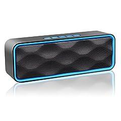 Idea Regalo - ZoeeTree S1Altoparlante Bluetooth, Speaker Portatile per Esterni, Vivavoce Integrato con Doppio Driver Cassa, Audio HD e Bassi Potenziati, Chiamata Senza Mani, Radio FM, Slot per Scheda TF