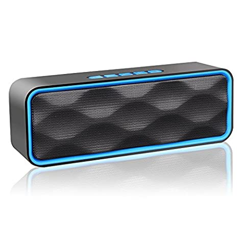 ZOEE S2 Bluetooth Stereo Speaker with HD Audio, Enhanced Bass, FM Radio & Built-in Mic, TF Card Slot, Dual-Driver Portable Wireless Speaker with Low Harmonic Distortion and Superior Sound