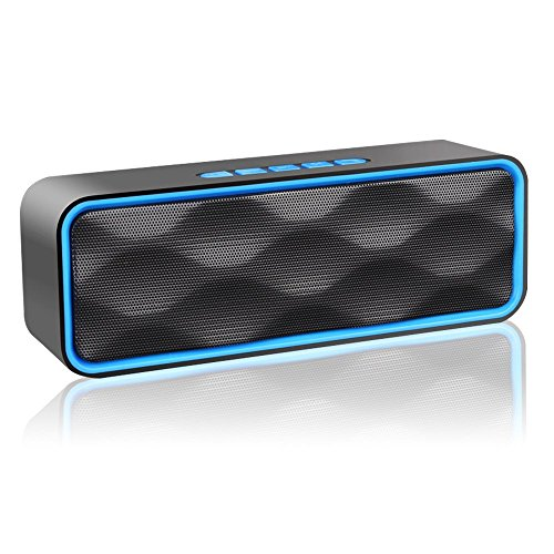 ZoeeTree ZJB01000 S2 Wireless Bluetooth Speaker 4.2, HD Audio and Enhanced Bass, FM Radio (Blue) Test