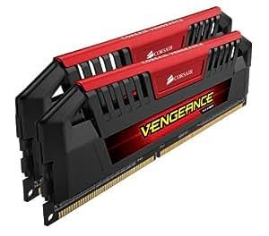 Corsair CMY16GX3M2A2133C9R Vengeance Pro 16GB (2x8GB) DDR3 2133 Mhz CL9 Mémoire pour ordinateur de bureau destinée aux passionnés, Rouge