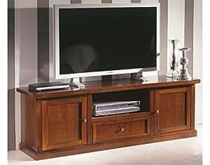 Porta tv in legno con 2 porte e 1 cassetto da l160 p45h56 casa e cucina for Mobili tv mercatone uno