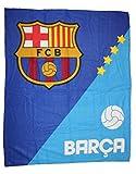 Cars FC Barcelona Fleece Decke Kuscheldecke Tagesdecke (79809) (Blau)