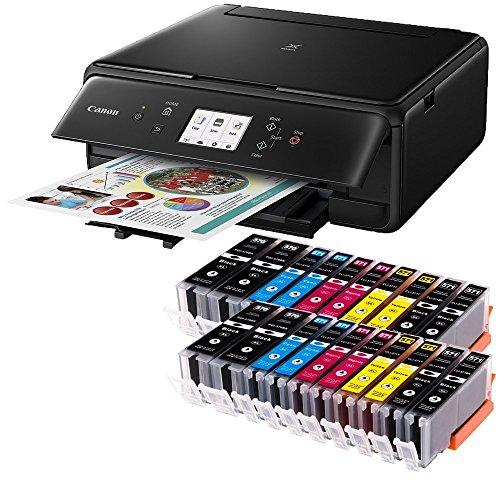 Canon PIXMA TS6050 3 in 1 Multifunktionsdrucker (Drucken, Scannen, Kopieren, WLAN, Duplex, 4.800 x 1.200 dpi) mit 20 EasyInk Patronen